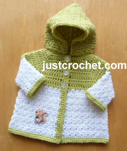 Free baby crochet pattern newborn hooded coat usa