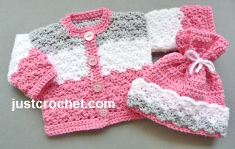 Free Baby Crochet Pattern Dolls Coat And Hat Usa
