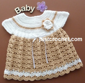 3df31945c9ae Free baby crochet pattern angel top dress uk