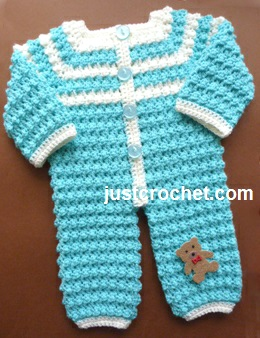 Free Crochet Pattern For Baby Romper : Free baby crochet pattern bobbly romper uk