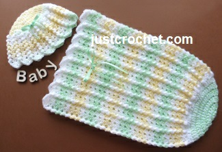 26eca90132be Free baby crochet pattern beanie and cocoon uk