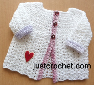 6ea339252838 Free baby crochet pattern baby cardigan uk