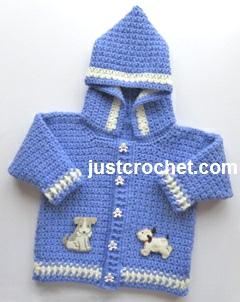 Free Crochet Patterns Baby Jackets : Free baby crochet pattern boys hooded jacket usa