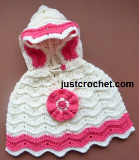Free Baby Crochet Pattern Poncho With Hood Usa