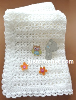 Crochet Baby Shawls Free Patterns : Free baby crochet pattern shawl with a cluster edging uk