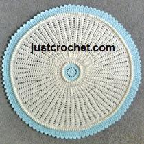 Crochet Patterns Round Baby Blankets : Free baby crochet pattern round blanket usa