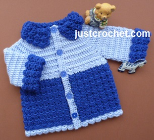 Free baby crochet pattern boys jacket uk