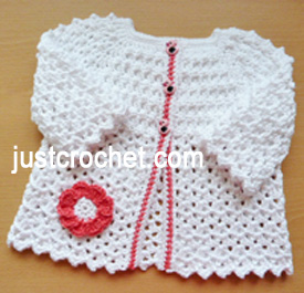 Free baby crochet pattern cotton summer cardigan uk