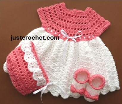 Dress Outfits Baby crochet pattern JC166B