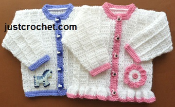 b7ea690c616e Free baby crochet pattern boy and girl cardigans uk