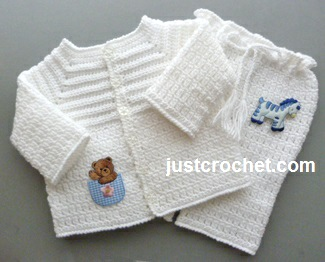 Free Baby Crochet Pattern Boys Christening Outfit Usa