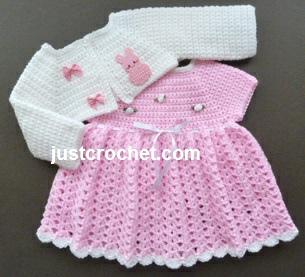 Free Printable Crochet Patterns For Babies : Free baby crochet pattern dress and bolero usa