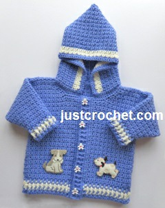 Free Crochet Pattern For Newborn Jacket : Free baby crochet pattern boys hooded jacket uk