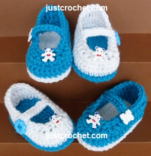 Free Baby Crochet Pattern Mary Jane Shoes Usa