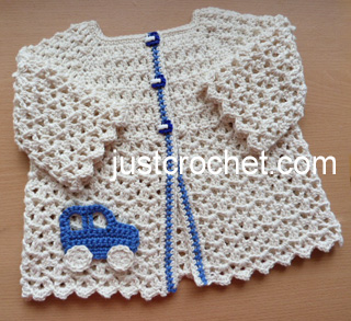 49224a6c7 Free baby crochet pattern cotton summer cardigan usa