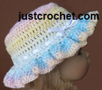 Frilly Brimmed Hat USA