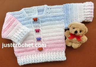 Free Baby Crochet Pattern Boy Or Girl Sweater Usa