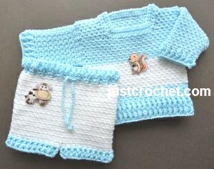 Crochet Patterns Free Usa : Free baby crochet patterns woven sweater and pants usa